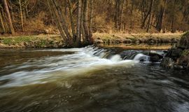 Weir on the River Royalty Free Stock Photo