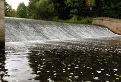 Weir on the river Stock Image