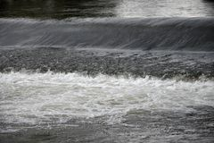 Weir on the River. Stock Photos
