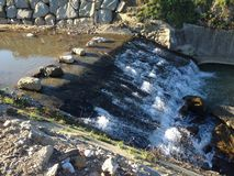 Weir on river Royalty Free Stock Photography