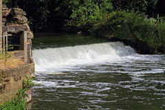 Weir on small river Stock Photography