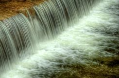 Weir. Some fast flow weir on the river, horizontal Stock Photos