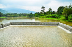 Weir in thailand Royalty Free Stock Photography