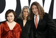 Weird Al Yankovic, Suzanne Yankovic and Nina Yankovic royalty free stock photography