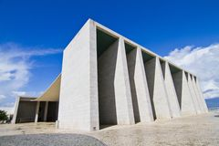 Weird cement monument structure Stock Image