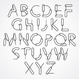 Weird constructor font, vector alphabet letters. Royalty Free Stock Photo
