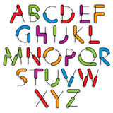Weird constructor font, vector alphabet letters. Stock Photo