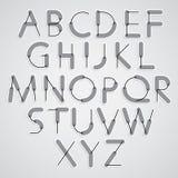 Weird constructor font, vector alphabet letters. Stock Photography