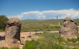 A weird geological phenomenon at a campground in new mexico Stock Images