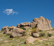 A weird geological phenomenon at a campground in new mexico Royalty Free Stock Images