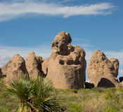 A weird geological phenomenon at a campground in new mexico Stock Photo