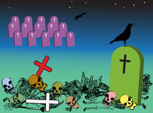 Weird graveyard royalty free stock image