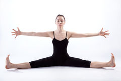 Weird gymnast's pose Royalty Free Stock Image