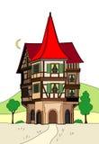 Weird house. Vector illustration of a fantastic house Stock Illustration