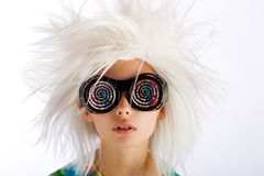 Weird looking hypnotized kid Royalty Free Stock Image