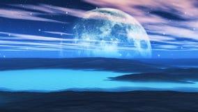 Weird planet Stock Image