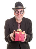 Weird Relative at Christmas Stock Photo