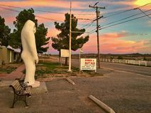 Weird roadside attraction of a Bigfoot statue Royalty Free Stock Image