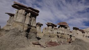 Weird sandstone formations created by erosion at Ah-Shi-Sle-Pah Wilderness Study Area, New Mexico, USA