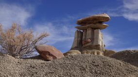 Weird sandstone formations created by erosion at Ah-Shi-Sle-Pah Wilderness Study Area in San Juan County near