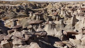Weird sandstone formations created by erosion at Ah-Shi-Sle-Pah Wilderness Study Area in San Juan County