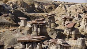 Weird sandstone formations created by erosion at Ah-Shi-Sle-Pah Wilderness Study Area