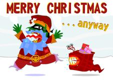 Weird Santa Claus Royalty Free Stock Images