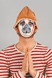 Weird Scary Mime Royalty Free Stock Photo