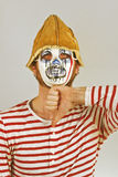 Weird Scary Mime Stock Images