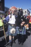 Weird Scottish band members at the Doo Dah Parade, Pasadena, California Stock Photography