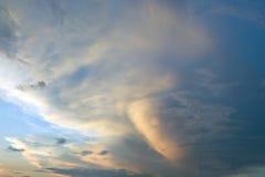 Weird sky Royalty Free Stock Photo