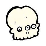 Weird spooky skull cartoon Royalty Free Stock Images