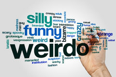 Weirdo word cloud Royalty Free Stock Photography