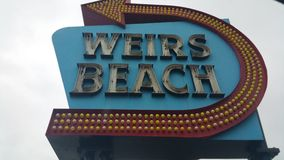 Weirs Beach Sign Royalty Free Stock Photography
