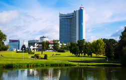 Weißrussland-Hotel in Minsk Stockfotografie