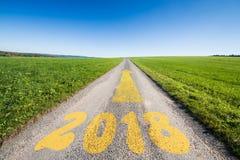 Weise bis 2018 Stockfotografie