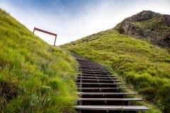 Weise bis zum Eingang von Padar-Insel Stockbilder