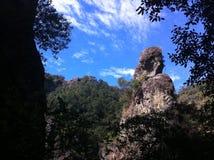 Weise zu den Ruinen von Tepoztlan, Mexiko Stockbild