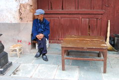 Weishan old  town in southwest  china Stock Photos
