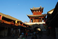 Weishan old  town in southwest  china Stock Photo