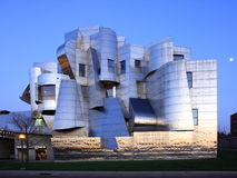 Weisman Art Museum in Minneapolis. At dusk Royalty Free Stock Photos