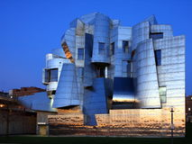 Weisman Art Museum in Minneapolis. At dusk Royalty Free Stock Photo