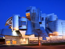 Weisman Art Museum in Minneapolis. At dusk Stock Image