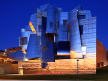 Weisman Art Museum in Minneapolis. At dusk Stock Photos