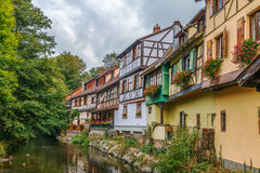 Weiss river in Kaysersberg, Alsace, France Royalty Free Stock Photography