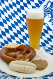 Weissbier with a snack Stock Photos
