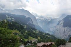 Weisse Lutschine river valley in Alps, Switzerland Stock Photography