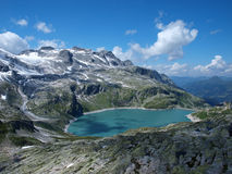 Weissee alpine lake in the Alps Stock Image