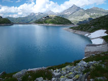Weissee alpine lake in the Alps Stock Images