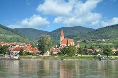 Weissenkirchen i der Wachau, Danube River, Österrike Royaltyfri Bild